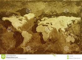 Old World Map Old World Map Stock Photo Image 14264220