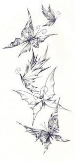 3d black butterfly designs 3d shell