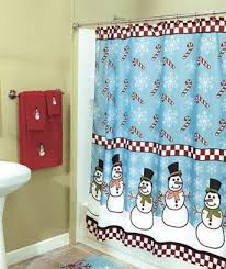 Snowman Shower Curtain Target Innovative Christmas Shower Curtains And Christmas Shower Curtains