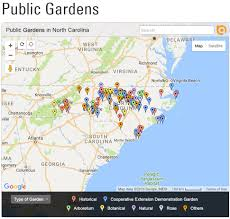 Ces Map Learn More About Public Gardens In North Carolina North Carolina