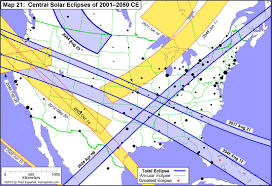 Map Of Southeastern United States by Atlas Of Central Solar Eclipses In The Usa
