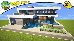 Modern House Minecraft Minecraft Modern House Tutorial Default 2 By Andyisyoda Youtube
