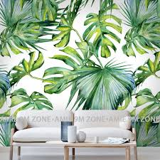 green wallpaper home decor relief light green leaf wallpaper for living room bedroom mural wall