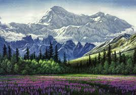 Alaska scenery images Mountains park usa painting alaska denali art scenery national jpg