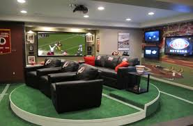 large home network design glorious black faux leather sofas with green carpet and large