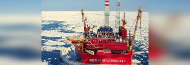 on the world u0027s first ice proof oil rig russia