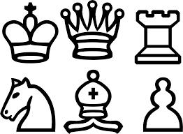 clipart white chess set