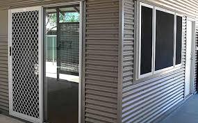 Secure Sliding Windows Decorating Nifty Sliding Security Screen Doors Brisbane D15 On Stylish