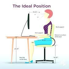 proper standing desk posture ideal desk height diagram of ergonomic desk sitting ideal standing