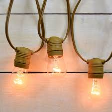 outdoor patio string light commercial grade 54 ft brown