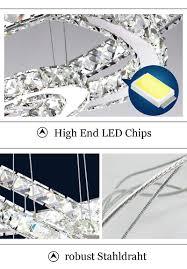 Esszimmerlampen Kristall 2 Ring Led Dimmbar Deckenleuchte Kristall Hängelampe Pendelleuchte