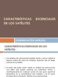 imagenes satelitales caracteristicas características de los satélites