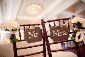mr and mrs sign for wedding mr and mrs reception chair signs elizabeth designs the
