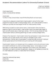 recommendation letter for college student
