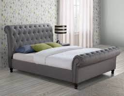 light grey upholstered bed grey upholstered bed frame for tufted plan 2 buy from bath beyond