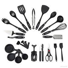 lot ustensiles de cuisine nexgadget 24 pièces ensemble ustensiles de cuisine en acier