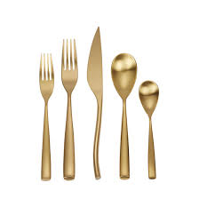 moon cutipol brushed gold flatware collection pertaining to gold