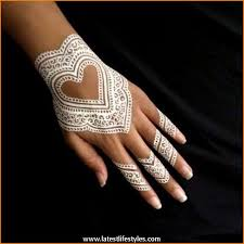 beautiful white henna tattoos for hands life with style art