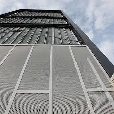 Metal Curtain Wall Rainscreen Cladding Graepel Perforators