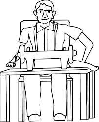 tailor man machine coloring page wecoloringpage
