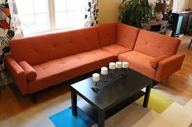 Contemporary Sectional Sleeper Sofa Amazon Com Left Right Changeable Sectional Rust Orange Modern