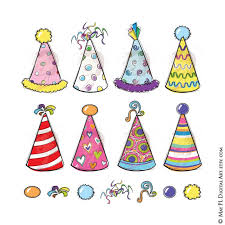 birthday hats party hats clipart whimsy birthday new years diy