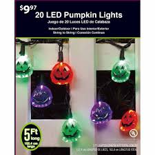 Led Lights Halloween Fancy Pumpkin Halloween Led Light Set Orange Purple Green