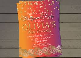 lohri invitation bollywood birthday party invite indian