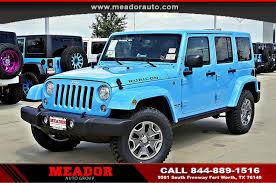 blue jeep wrangler unlimited jeep wrangler unlimited in fort worth tx meador dodge chrysler