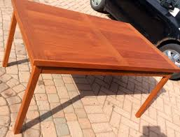 Danish Dining Table Refinished Danish Mid Century Modern Teak Dining Table Extendable