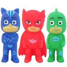 3pcs 9cm pj masks toy mini figure plastic vinyl doll
