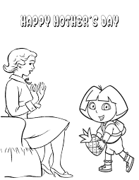 dora mothers day pineapple coloring page h u0026 m coloring pages