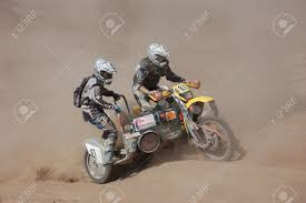 sidecar motocross racing rally motorcycle with sidecar at offroad competition stock photo