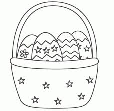 easter basket drawing easter basket coloring drawing free