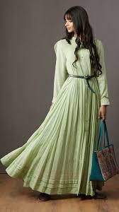 buy indian designer mint green a line kurti by ritu kumar online