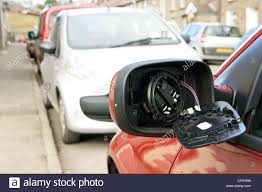 Door Mirror Glass by Broken Car Wing Mirror With Glass Hanging Off After A Minor Road