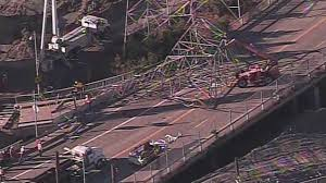 construction on hold after transmission tower accident on hwy 101