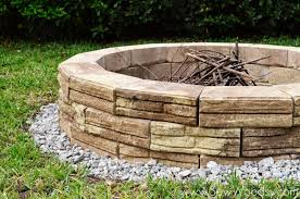 Build A Backyard Fire Pit by How To Build Outdoor Fire Pit Sew Woodsy Sew Woodsy