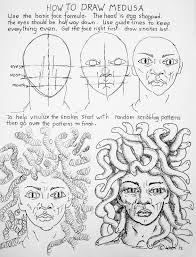 how to draw worksheets for the young artist how to draw medusa