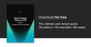 gui design patterns free e book web ui design patterns 2016 vol 1