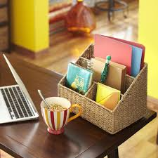 Wicker Desk Organizer Sullivan Desk Organizer Desks And