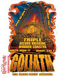 Goliath Six Flags Six Flags Great America Goliath Islandboy Graphics And Apparel