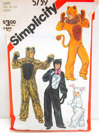 Halloween Costumes Sewing Patterns Animal Costume Pattern Simplicity 5739 Size Large 40 42