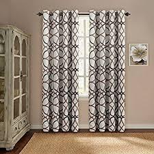 Blackout Curtains 108 Inches Amazon Com Lush Decor Edward Trellis Room Darkening Window