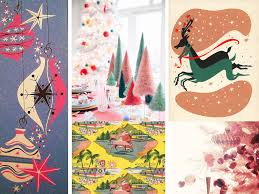 Graphic Design Holiday Cards Mid Century Modern Holiday Card By Melanie Biehle 2015