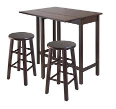 winsome lynnwood drop leaf island table with 2 square legs stool