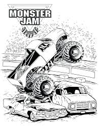 monster truck coloring pages advance dump book fire engine
