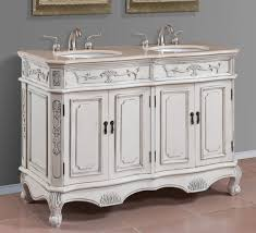 vintage style white wooden carving 60 inch double sink vanity