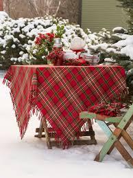 plaid tablecloth linens kitchen tablecloths