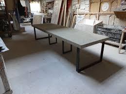 concrete dining table h u0026 h concrete top tables